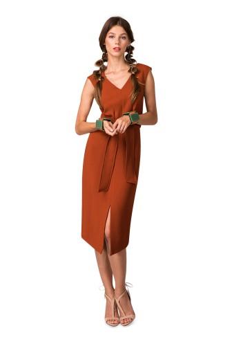 rochie-midi-cu-cordon-dr3083-portocaliu-3-l